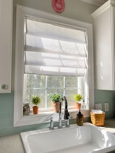 """A step by step tutorial on how to make a high end looking window treatment, with a few materials, and in under an hour. Before you start, measure your window    -Measure the length of the window and the width. Add 2 inches to the width and three inches to the length. This will allow for the seam and for a pocket at the tip.-Cut your fabric-Using your iron and measuring tape, measure 1/2"""" fold and iron on each of the sides, and the top and the bottom of the material.-Fold the material o… Window Coverings, Window Treatments, Diy Faux Rocks, Vinyl Mini Blinds, Roman Shade Tutorial, Diy File Cabinet, Faux Roman Shades, Easter Table Decorations, Simple Wallpapers"""