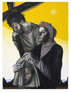 Stations of the Cross VI: Veronica Wipes The Face of Jesus, 2005 - Chris Gollon