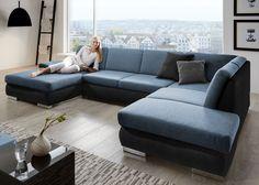 Lovely  Design Wohnlandschaft TURINO XL mit LED Beleuchtung in grau wei Exklusiv bei Sofa Dreams Pinterest Led beleuchtung Wohnlandschaft und LED