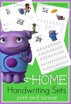 FREE Home Handwriting Sets. These homeshcool printables come in print and cursive!