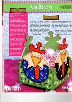 Revistas de manualidades gratis: Manualidades para la cocina country Chicken Crafts, Chicken Art, Arte Country, Country Crafts, Tole Painting, Painting On Wood, Wood Crafts, Diy And Crafts, Chickens And Roosters