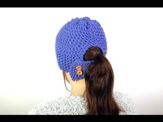 How to Loom Knit a Ponytail Hat (DIY Tutorial) - YouTube