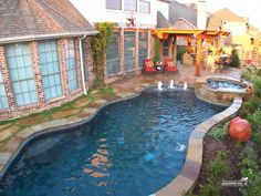 Good color for swimming pool WATER Backyard Pool Landscaping, Backyard Pool Designs, Small Backyard Pools, Small Pools, Swimming Pools Backyard, Swimming Pool Designs, Outdoor Pool, Lap Pools, Indoor Pools