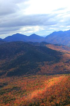 Adirondack's in the fall