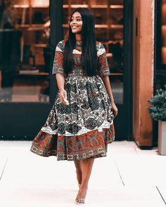Stylish Ankara Flare Dress Ankara Short Gown, Ankara Skirt And Blouse, Ankara Dress Styles, Ankara Gowns, Latest Ankara Styles, Short Gowns, Latest African Fashion Dresses, Frock Images, Simple Frocks