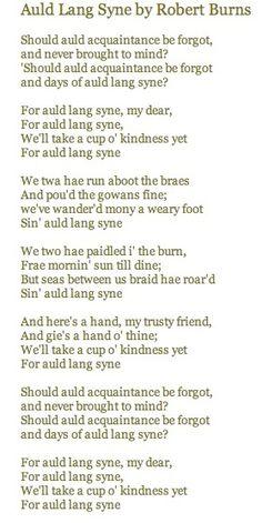 Exceptional image regarding auld lang syne lyrics printable