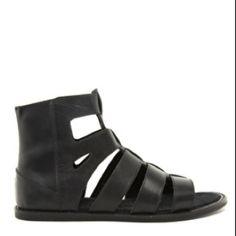 Newskool #gladiator men's black #leather flat sandals. 2012 #hightops