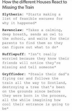 What other way is a true Gryffindor supposed to get to school?