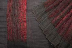 Shibori Linen Silk Saree