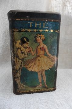 French Vintage Tea Tin Tole Ballet by FrenchCountryLiving