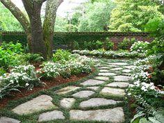 Landscaping - white garden