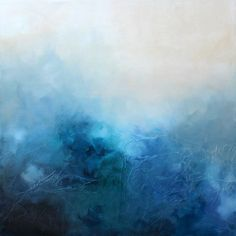 This KR Moehr original modern abstract painting - BLUE BLISS - brings moody beauty to any space. Textured, contemporary abstract on gallery-wrapped canvas.