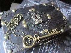 Bridesmaid Gift Victorian Steampunk Chest Wooden by trusted