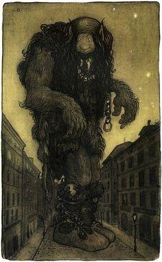 A Troll , John Bauer