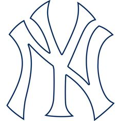 New York Yankees fan? Put your passion on display with a giant New York Yankees: Logo - Giant Officially Licensed MLB Removable Wall Decal Fathead wall decal! Yankees Logo, Yankees News, New York Yankees, Mlb Team Logos, Mlb Teams, Logo Outline, Wall Banner, Removable Wall Decals, Coloring Pages