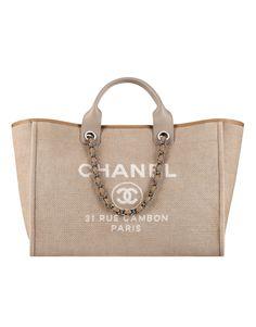 Grand sac shopping en toile - CHANEL