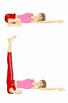 Exercice de gym pour muscler les fesses - Belles fesses: Comment avoir de belles fesses? - Voici un deuxième exercice de gym pour muscler les fesses. L'exercice : Abduction de hanche allongé jambe tendue. Départ : Allongez-vous sur le côté gauche, votre tête posée sur votre bras gauche...