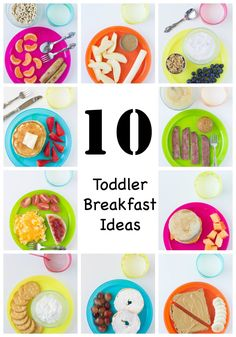 10 Toddler Breakfast Ideas to inspire your busy mornings! Mix and match these kid favorites below with milk for a great start to the day! via @culinaryhill