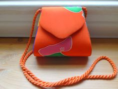 Vintage Painted Silk Disco Handbag by VintageZipper on Etsy