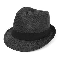 0347e1020f9 Twill Weave Fashion Fedora Hat with Black Band Hats For Women