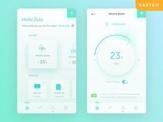 SmartHome - This home is not too smart devices user experience user interface smart home clean app ios smart room ui Dashboard Design, App Ui Design, Mobile App Design, Interface Design, User Interface, Survey Design, Dashboard Mobile, Mobile Ui, Smart Home Design