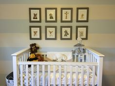 Animal Inspired Nursery in a Gender Neutral Space - love the Animal Print Shop collage over the crib!