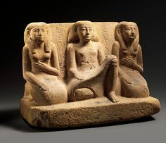 Statue of the Overseer of Stonemasons Senbebu and Family | Middle Kingdom | The Met