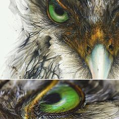 Amazing Art by @huatunan #artist #absractart #nature #flow #colorful #realism #fineart #love #green #eyes #sketch #drawing