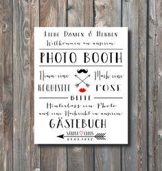 Personalized Wedding Photo Booth Sign-Hochzeit Gästebuch-Printable Photo Booth Guest Book Sign-Wedding Typography-Arrow Heart-Hochzeit Print