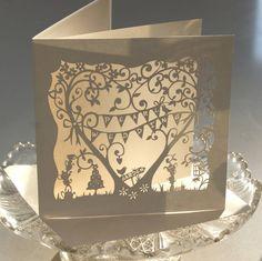 pearl wedding anniversary laser cut card by the hummingbird card company   notonthehighstreet.com