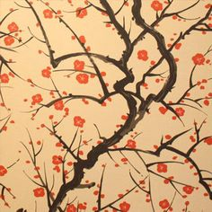 flower quince wallpaper | Clarence House