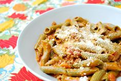 Penne with Meaty Vodka Sauce: Sometimes you just want what's familiar but with a hint of something different...