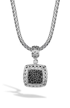 New John Hardy 'Classic Chain' Square Pendant,Sterling Silver fashion online. [$795]newoffershop win<<