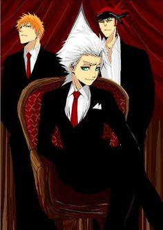 Lol...Toshiro looks bossy here&Ichigo&Renji r his ......^^