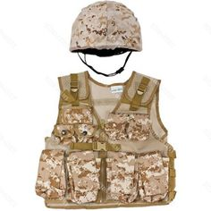 Kids-Army Helmet & Combat Vest Combo - Desert Digital Camouflage by Kids-Army. $69.99. Our #2 Combo is the envy of the kids-army industry. This Combo comes with a matching helmet and kids combat vest. The helmet and vest are fully adjustable to fit children from 6-13 Years Of Age.