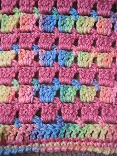 Block-stitch Blanket pattern