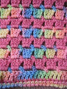 Block-stitch Blanket pattern