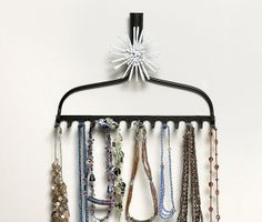 Rake rack jewelry display. BeadStyleMag.com