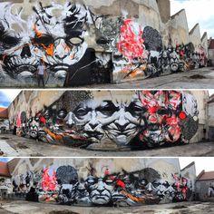 "202 Likes, 3 Comments - Topstreetart (@topstreetart) on Instagram: ""The best streetart of the day: @antistatik119 + @345_orbit119 + #jeanlinnhoff + #ugoe in Mulhouse,…"""