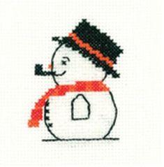 Snowman - Mini Cross Stitch Kit - Beginners