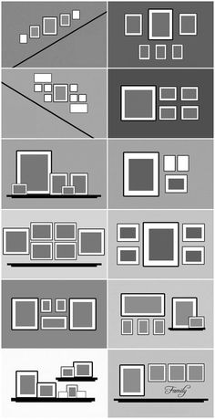 arrangements of picture frames on the wall. - DIY ideas - Different arrangements of picture frames on the wall. -Different arrangements of picture frames on the wall. - DIY ideas - Different arrangements of picture frames on the wall. Home Living Room, Living Room Decor, Bedroom Decor, Ikea Girls Bedroom, Picture Wall Living Room, Arranging Bedroom Furniture, Bedroom Frames, Narrow Living Room, Retro Living Rooms