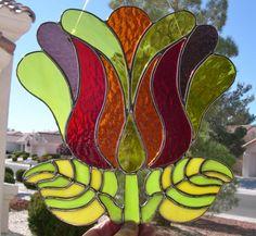 Vitrail fleur de Hawaii par StainedGlassbyWalter sur Etsy