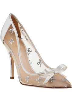 Kate Spade Lisa Evening Pump Ivory Satin - Jildor Shoes, Since 1949