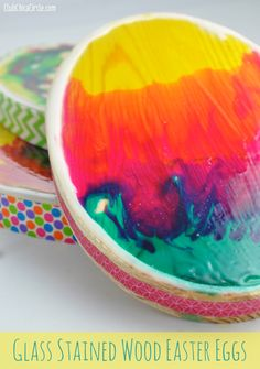 How to make Glass Stained Easter Eggs