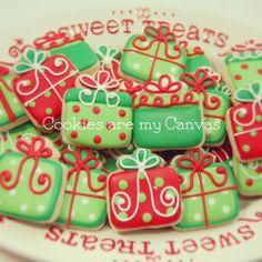 Christmas present cookies