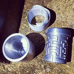 Very cool little puzzle geocache container.  This could turn what at first blush might look like a quick find into a test of patience to get to the log sheet.  (pinned from Instagram to Cool & Creative Micro Geocaches - pinterest.com/islandbuttons/cool-creative-micro-geocaches/)  #IBGCp