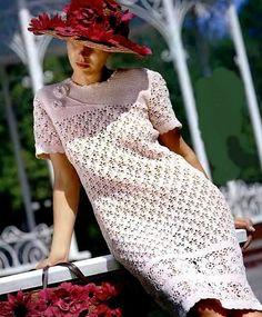 Ladies crochet dress in ecru color / custom by AnnieCrochetFashion on Etsy Crochet Blouse, Crochet Lace, Blouse Dress, Knit Dress, Crochet Wedding, Crochet Woman, Stylish Dresses, Crochet Clothes, Crochet Dresses