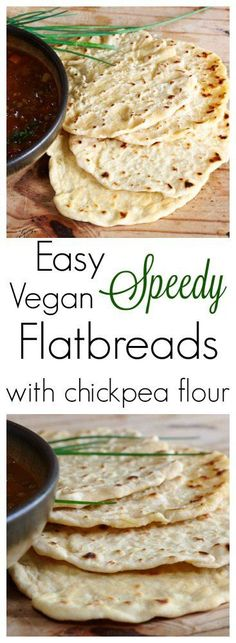 Simple & Speedy, these yummy vegan flatbreads are made from a mix of chickpea & plain flour. Perfect for mopping up juices & dunking into soups� There�s a distinct chill in �