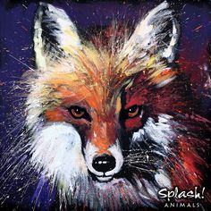 Splash Animals - Red Fox Love this little guy!