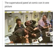 Misha looks like he's the reason they're laughing xD